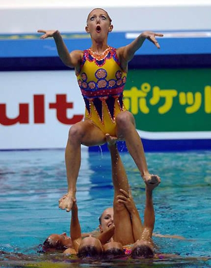 Synchronized Swimming Looks Awkward