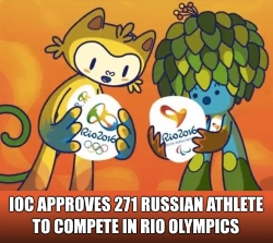 IOC Approves 271 Russian Athletes for Rio Olympics