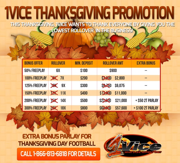 1Vice Thanksgiving Promotion