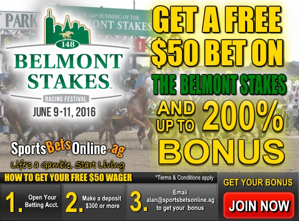 Get a Free $50 Bet on the Belmont Stakes