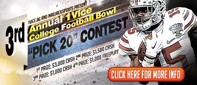 "3rd Annual 1Vice College Football Bowl ""Pick 20"" Contest"