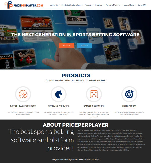 PricePerPlayer.com Sports Betting Software